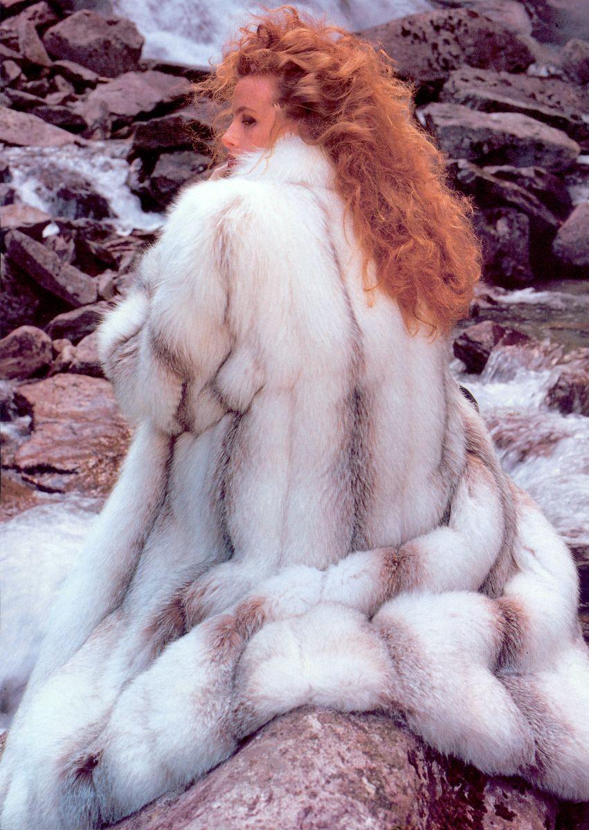 Long Shadow Fox Fur Coat | Furs &amp Softwear 4 | Pinterest | Coats