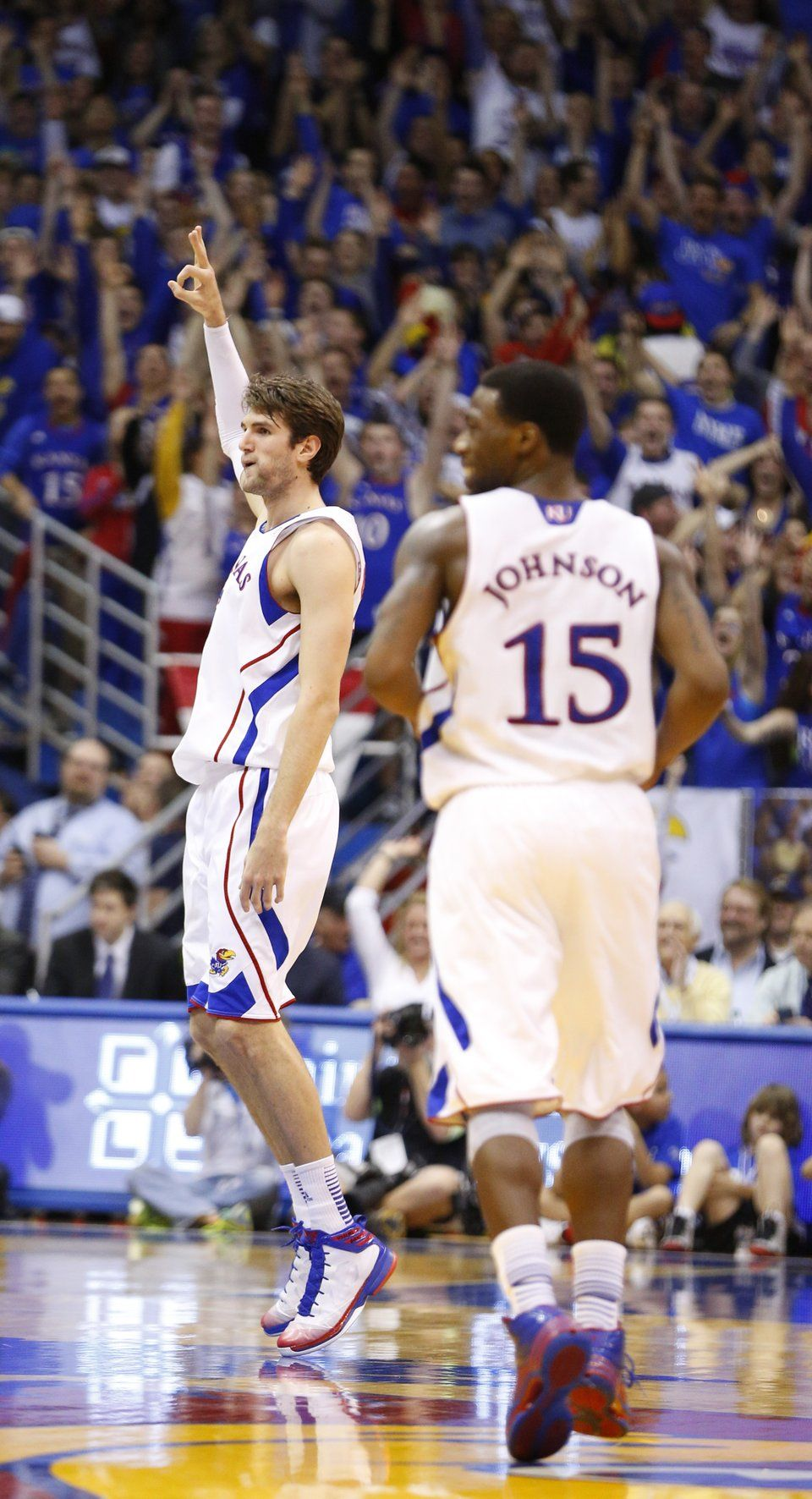 Withey for 3 KU...saw him practicing for this at shoot