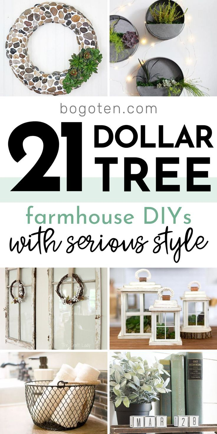 Photo of Dollar Tree Farmhouse DIYs They'll Think Cost a Fortune! | Dollar tree diy crafts, Dollar tree decor
