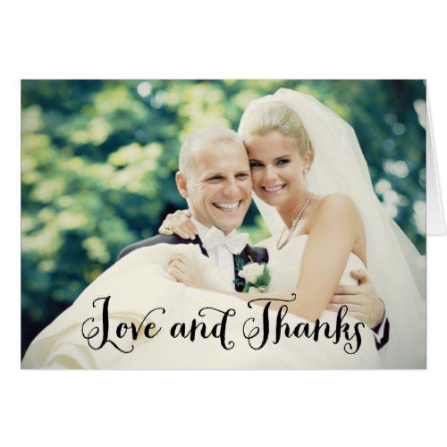 Wedding Photo Thank You Note Cards Folded Style Note cards and