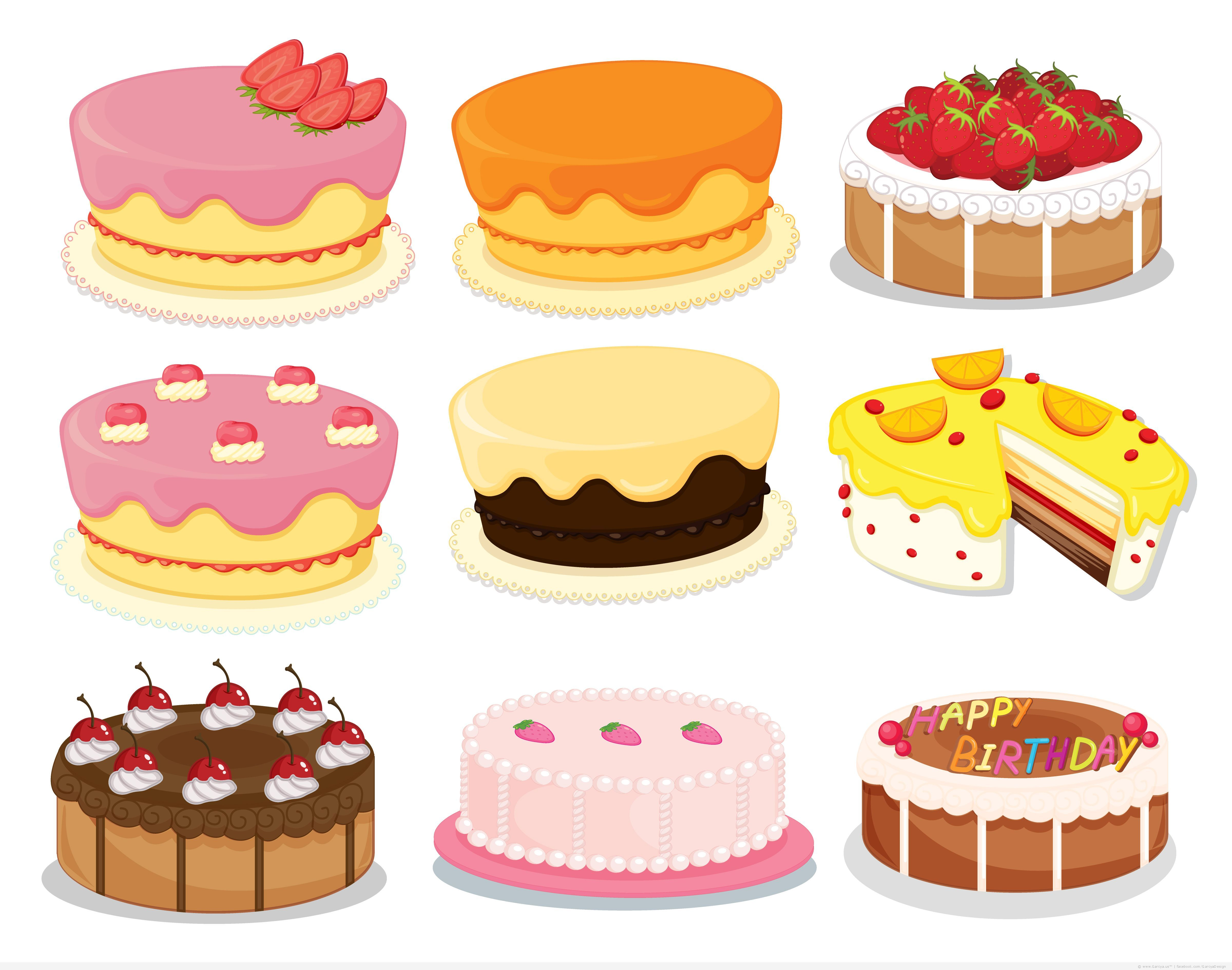 Vector Cakes And Sweets Free Download Cake Clipart Cake Flavors Types Of Cake Flavors
