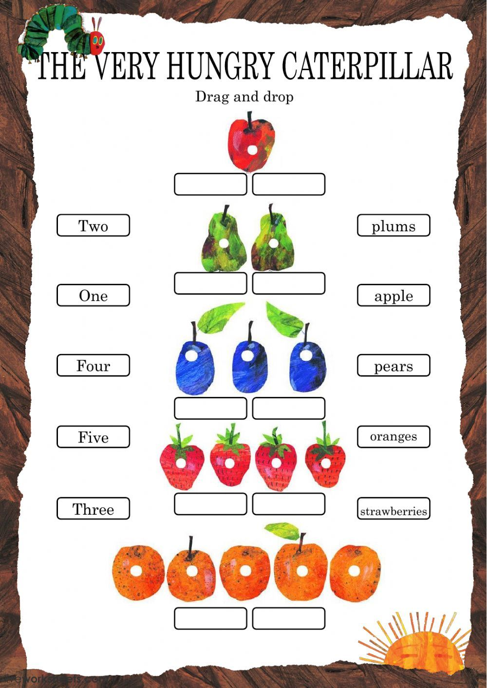 The Very Hungry Caterpillar Interactive And Downloadable Worksheet You Can Do The Exerc Hungry Caterpillar The Very Hungry Caterpillar Very Hungry Caterpillar