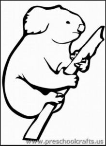 Printable Koala Coloring Pages For Preschool
