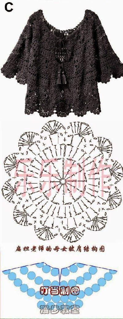 Relasé Coprispalle Alluncinetto Schema Gratis Crochet Top