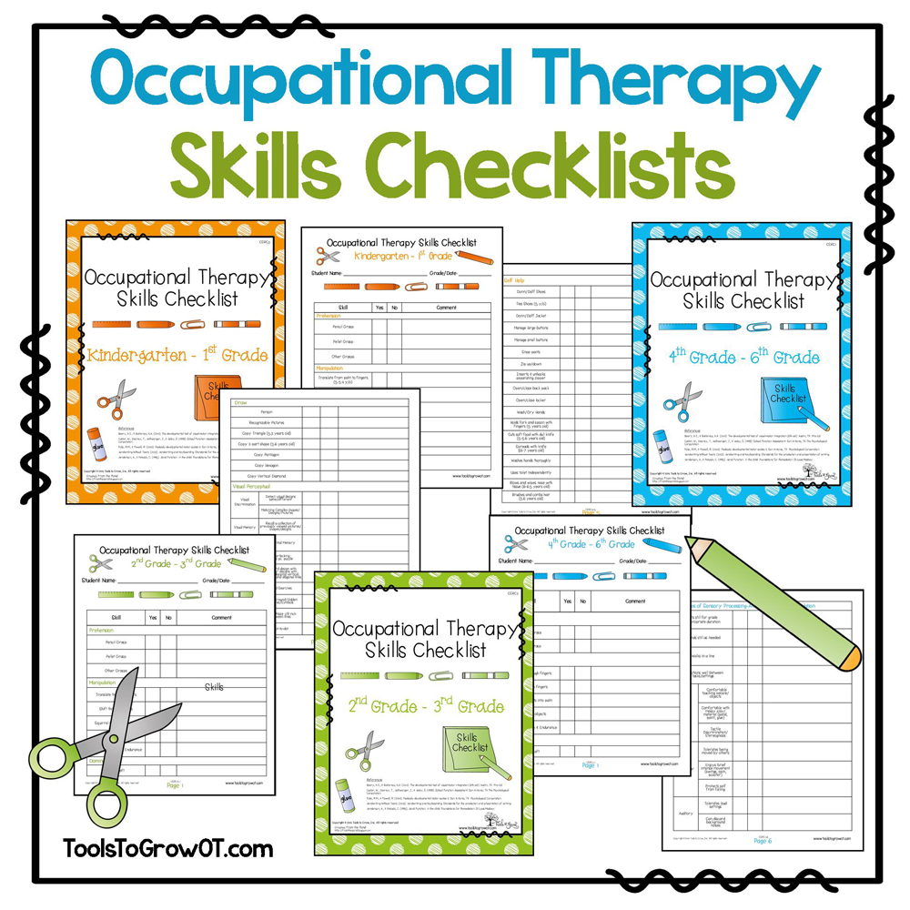 Ot Skills Checklists  These Informal Assessment Checklists