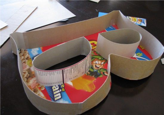 Diy paper mache letter made out of cereal boxes better for What type of cardboard are cereal boxes made of