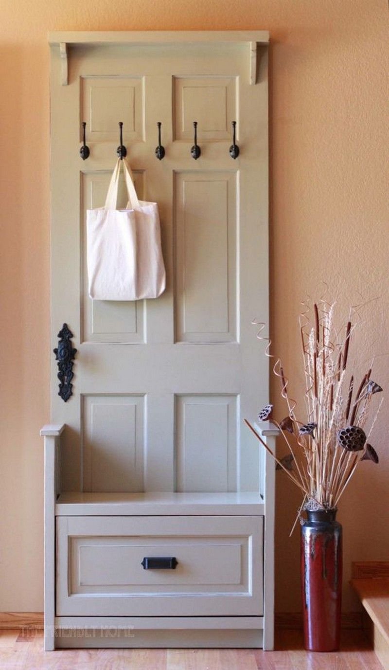 Hallway cabinet decor   DIY Wonderful Ideas for Reusing Old Doors  Pomysłowe rozwiązania