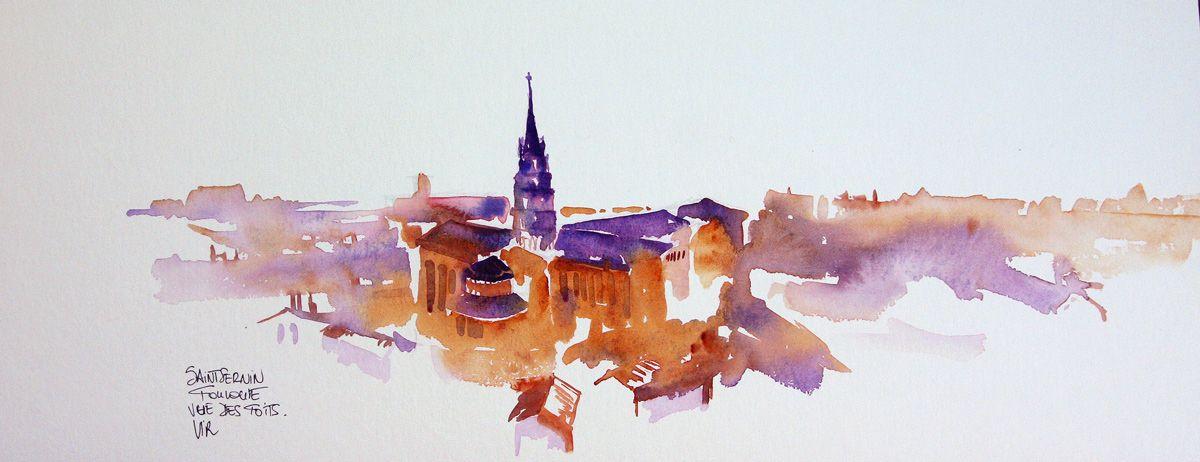 Vue De Toits De Toulouse Saint Sernin