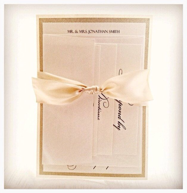 Champagne Wedding Invitation   by VPElegance on Etsy https://www.etsy.com/listing/218600340/champagne-wedding-invitation