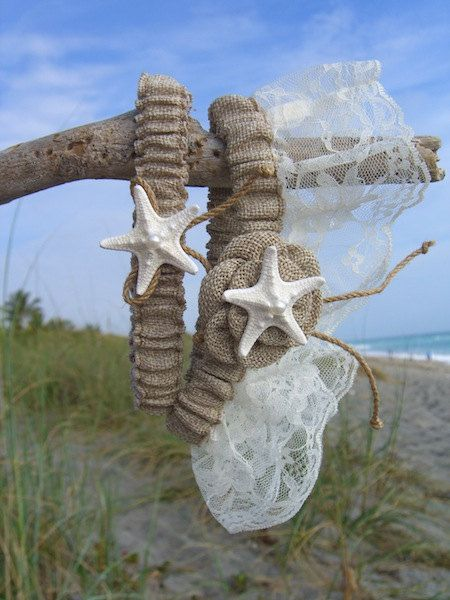 Rustic Beach Wedding Garter Set Burlap And Lace Weddings