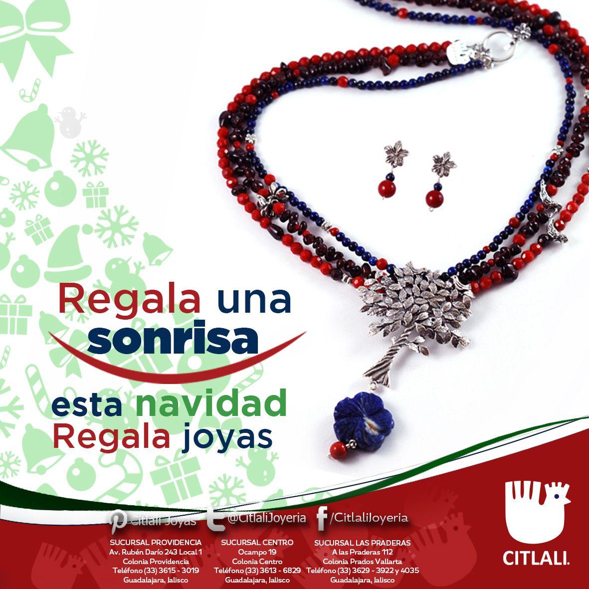 Regala esta #navidad lo mejor de ti, regala #joyería Citlali.
