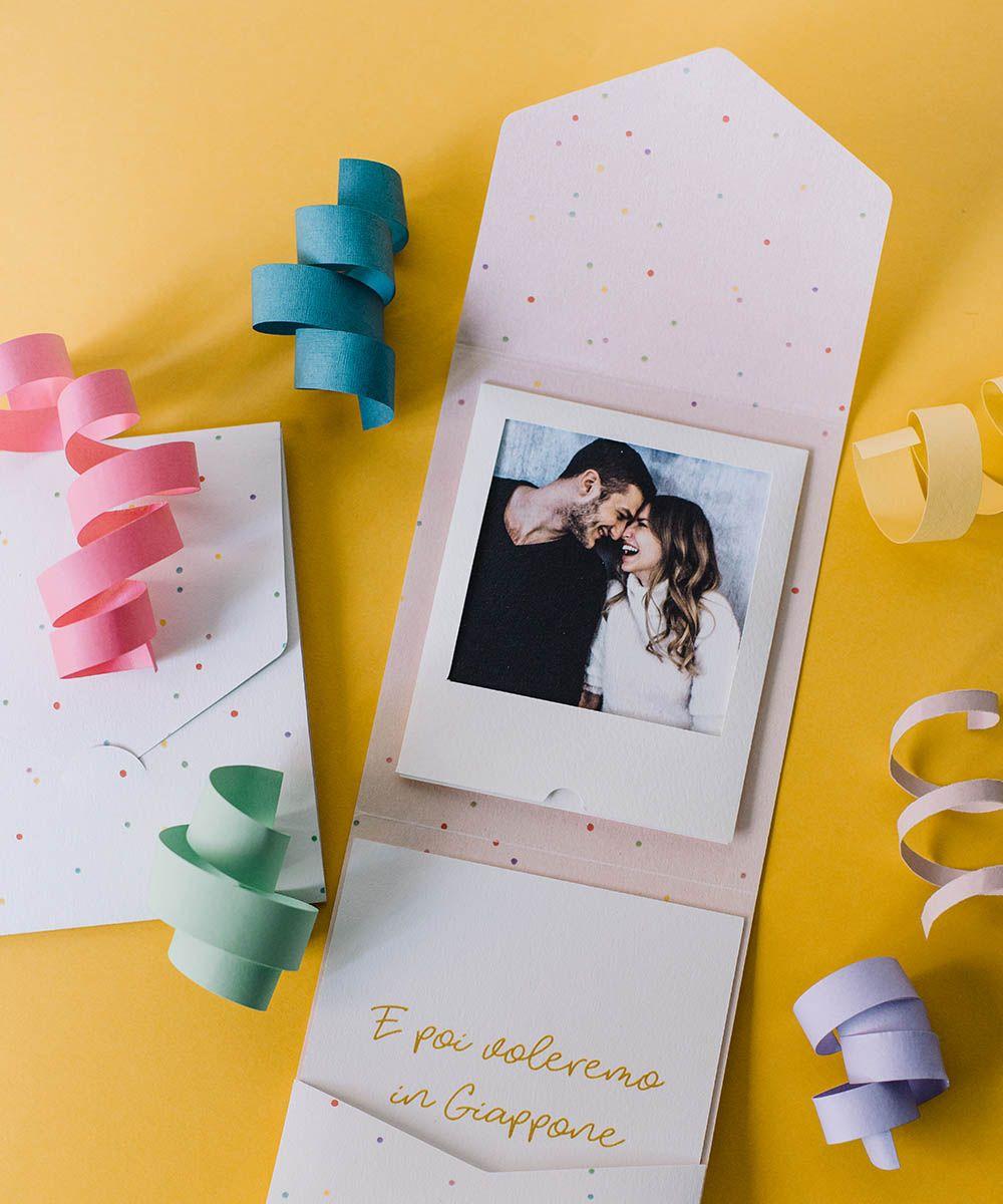 Partecipazione Di Matrimonio Polaroid Con La Tua Foto Il Piu Venduto Partecipazione Di Matrimonio Partecipazioni Nozze Matrimonio