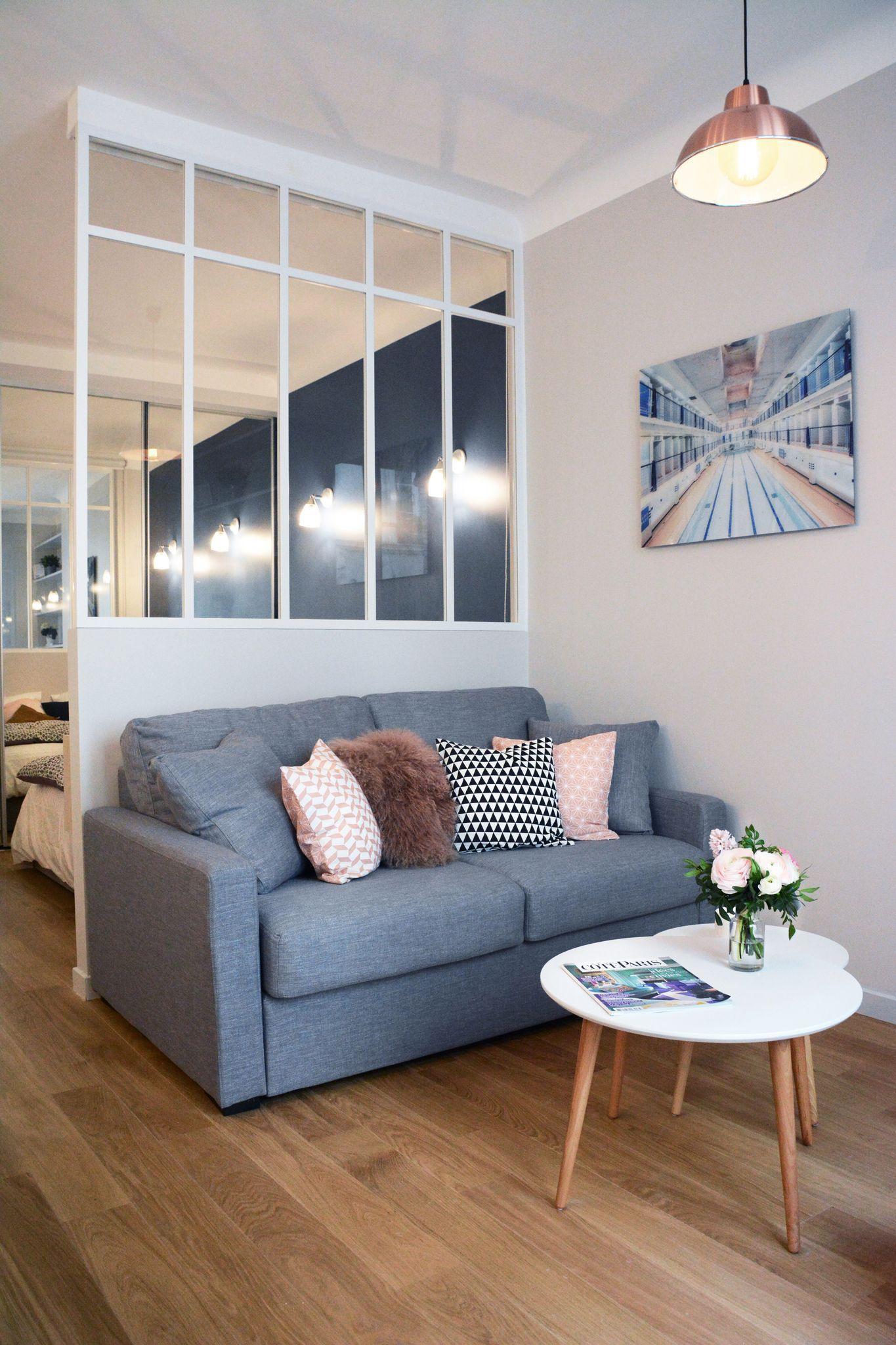 Coin Chambre Dans Petit Salon appartement paris 6 : 30 m2 comme un deux-pièces | deco