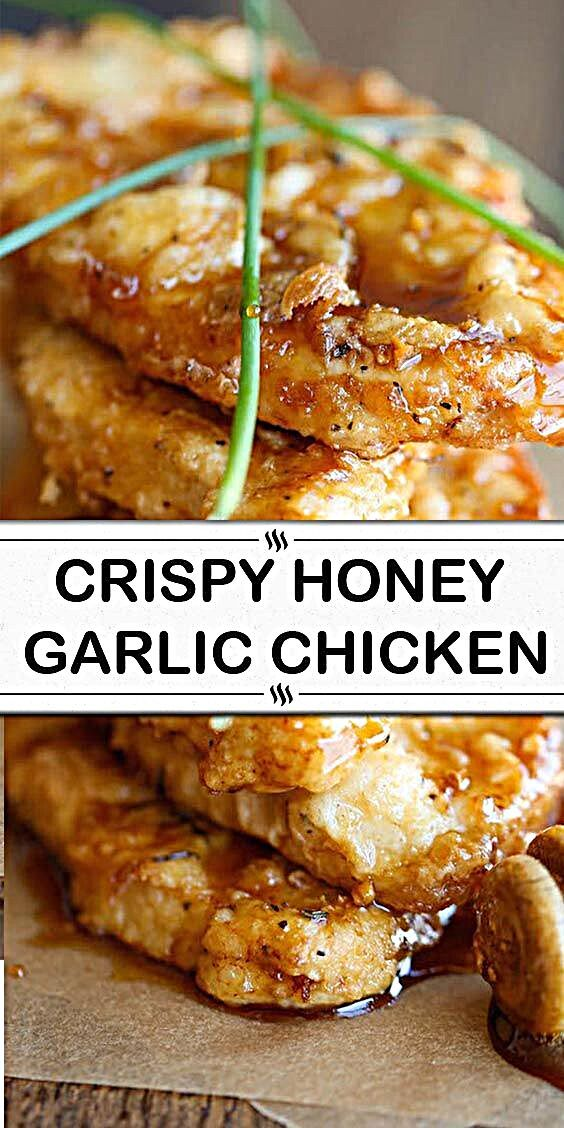 - The most amazing crisp-tender chicken with a honey garlic sauce that is out of this world. So good...