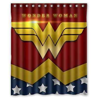 High Quality Cool Wonder Woman Waterproof Shower Curtain 60 X 72