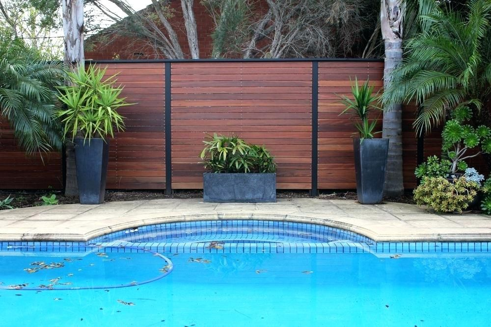 Swimming Pool Privacy Screen Based In South Designs And Constructs