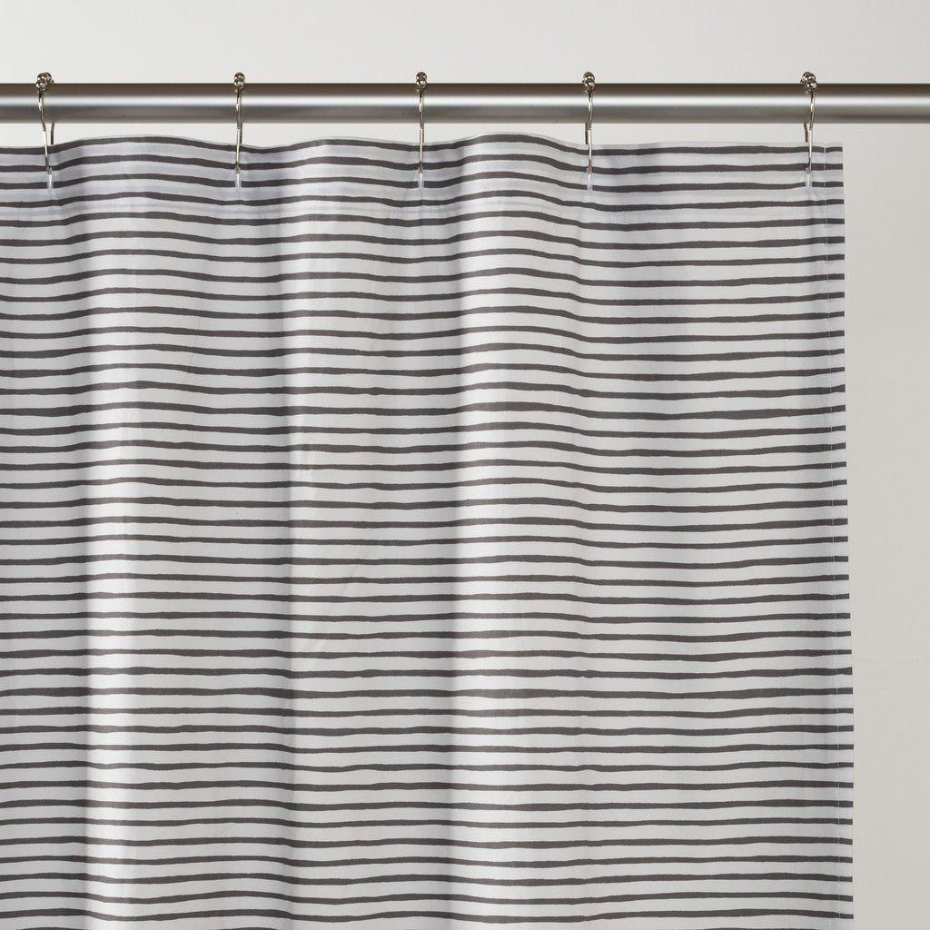 Painterly stripe shower curtain home decorating pinterest