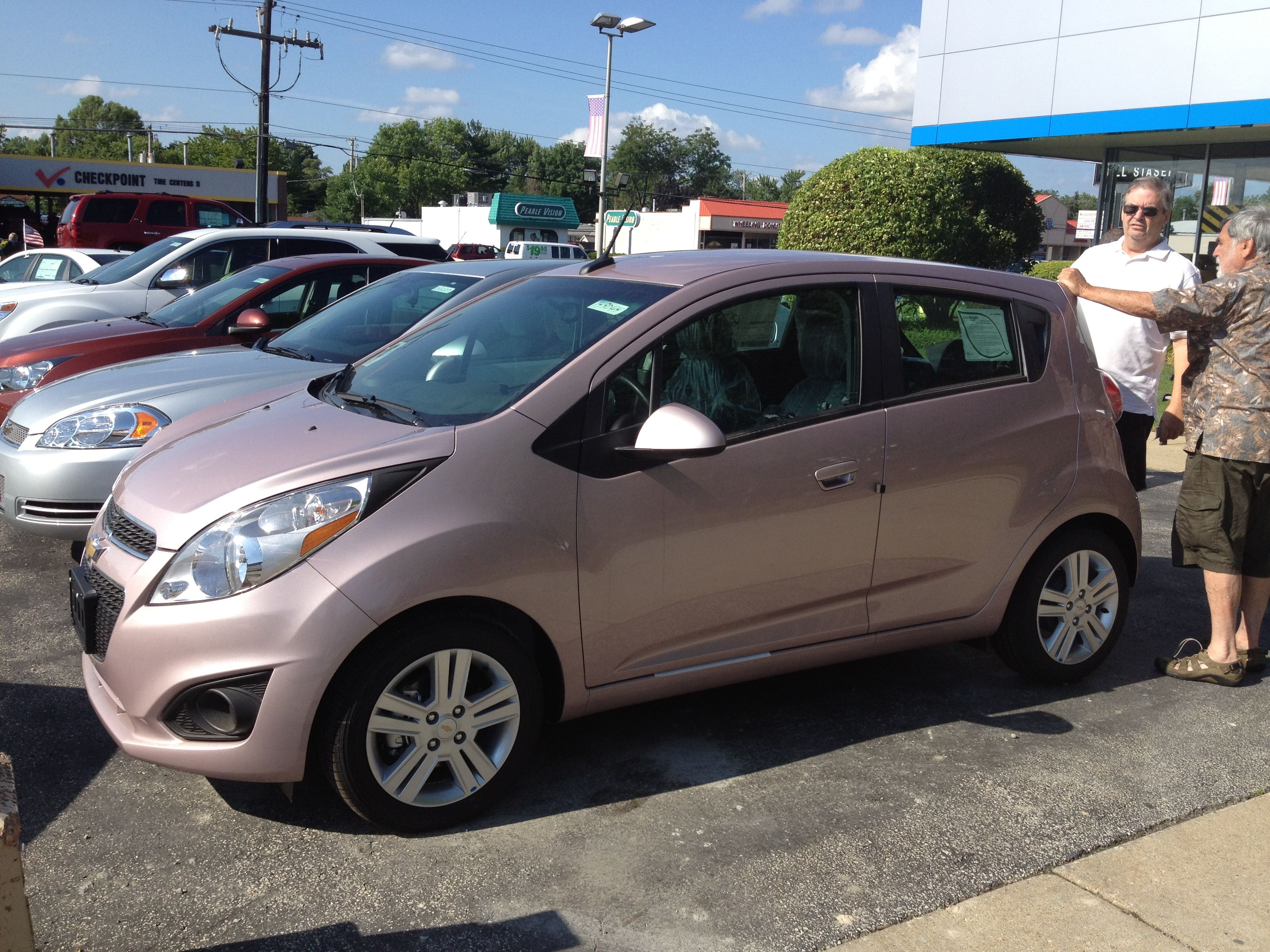 2015 Spark Fuel Efficient Car City Car Chevrolet Pink Chevy