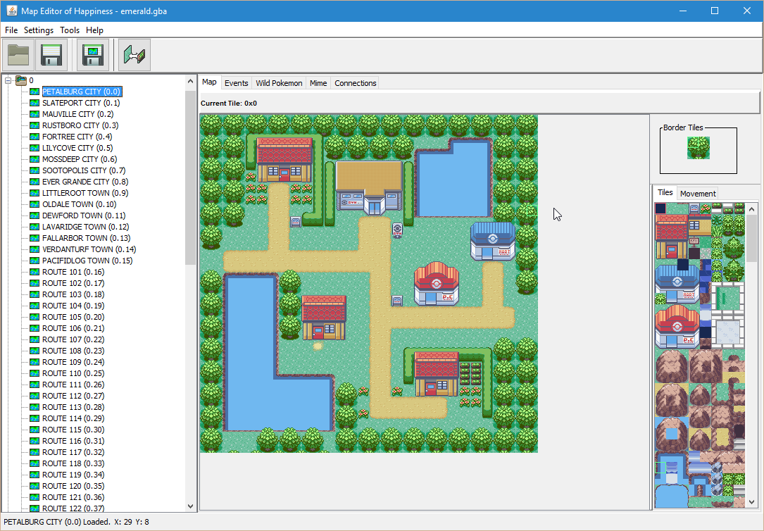 Map Editor Of Happiness Hack Rom Tools Pokemon Gba World Faraway