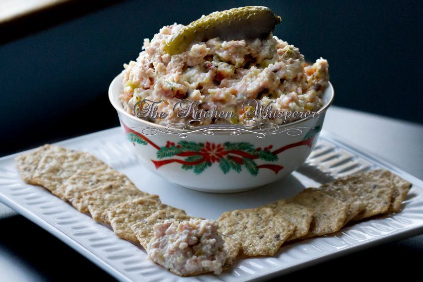 The Kitchen Whisperer Dad's Down Home Ham Salad Sandwich Spread - perfect way to use up leftover Christmas Ham