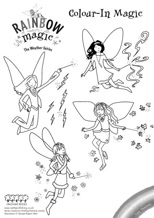 Free Coloring Pages Rainbow Magic Page Fairy Image