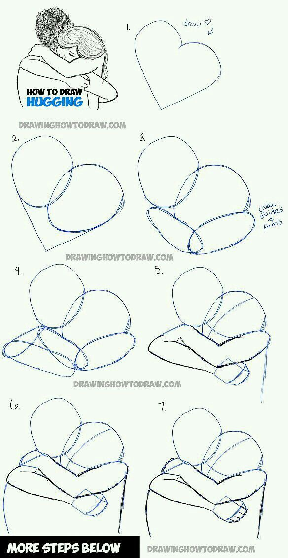 How to draw people hugging how to draw pinterest people how to draw people hugging ccuart Image collections