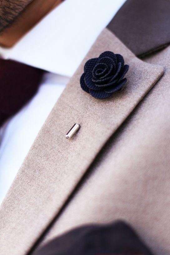 6225223c43124 Mens Fashion: brown blazer with contrast collar, white shirt ...