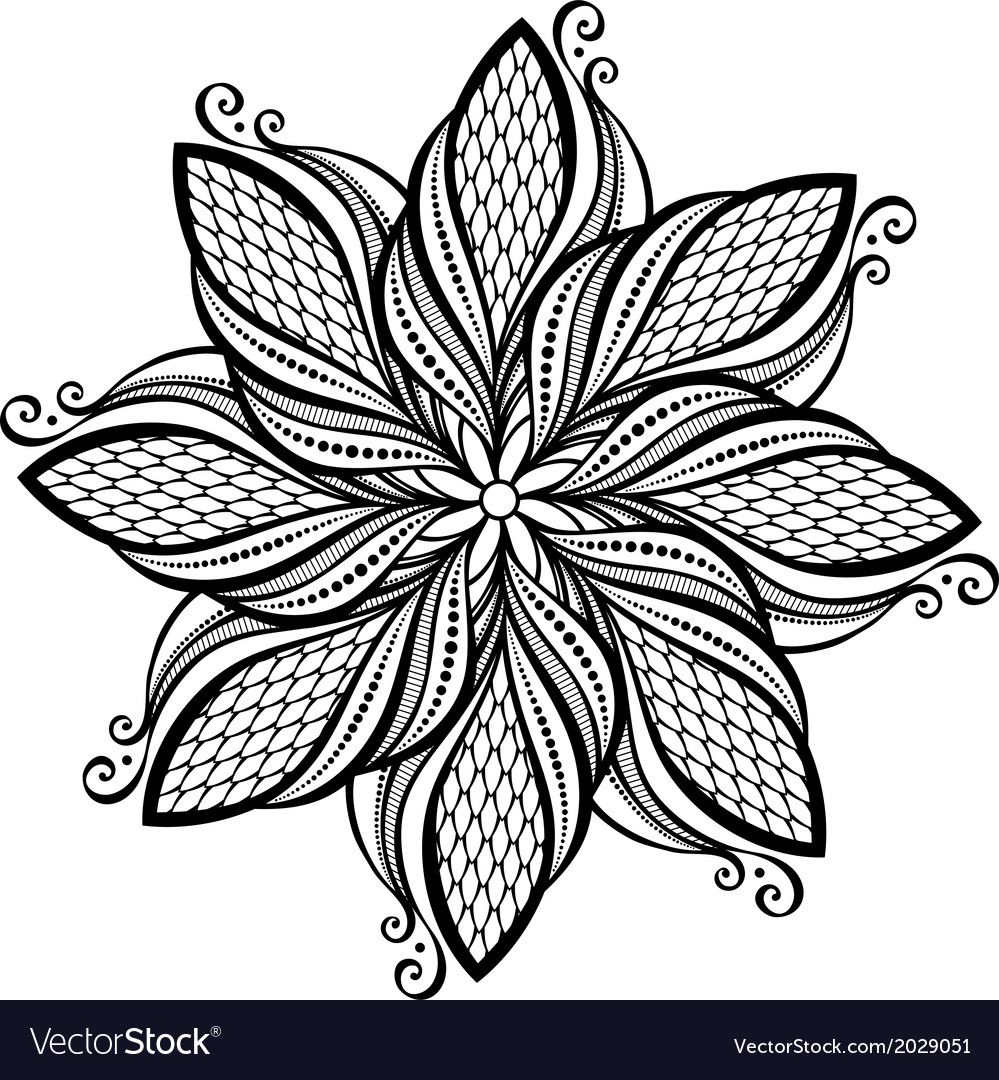 Beautiful Deco Abstract Circle Mandala Download A Free Preview Or High Quality Adobe Illustrator A Mandala Coloring Pages Mandala Coloring Zentangle Patterns