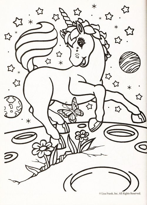 Unicorn In Space Coloring Pages Designs Trend