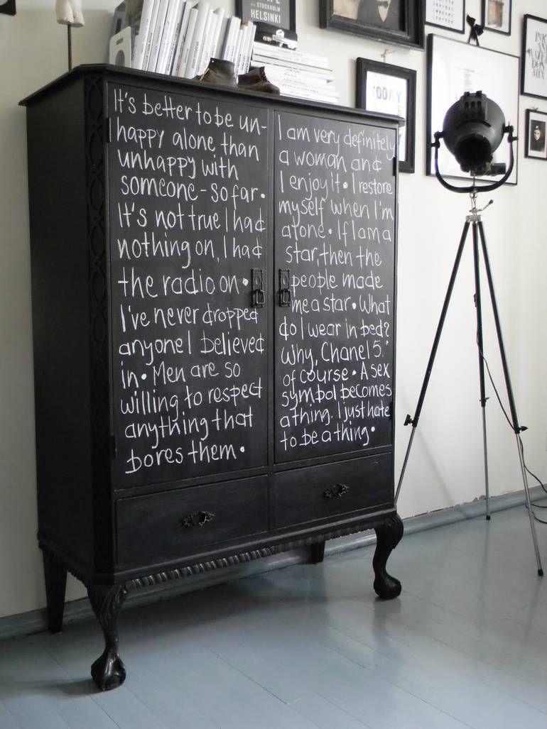 Diy Projekt Schrank Mit Tafellack Bemalen Furniture Tafellack