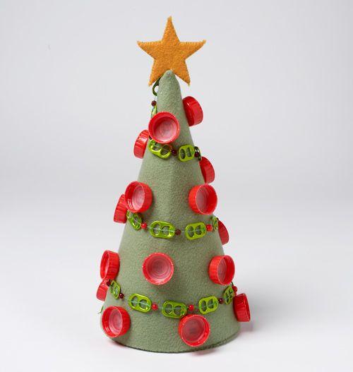 25 Dicas E Ideias Para Sua Arvores De Natal Com Material Reciclado