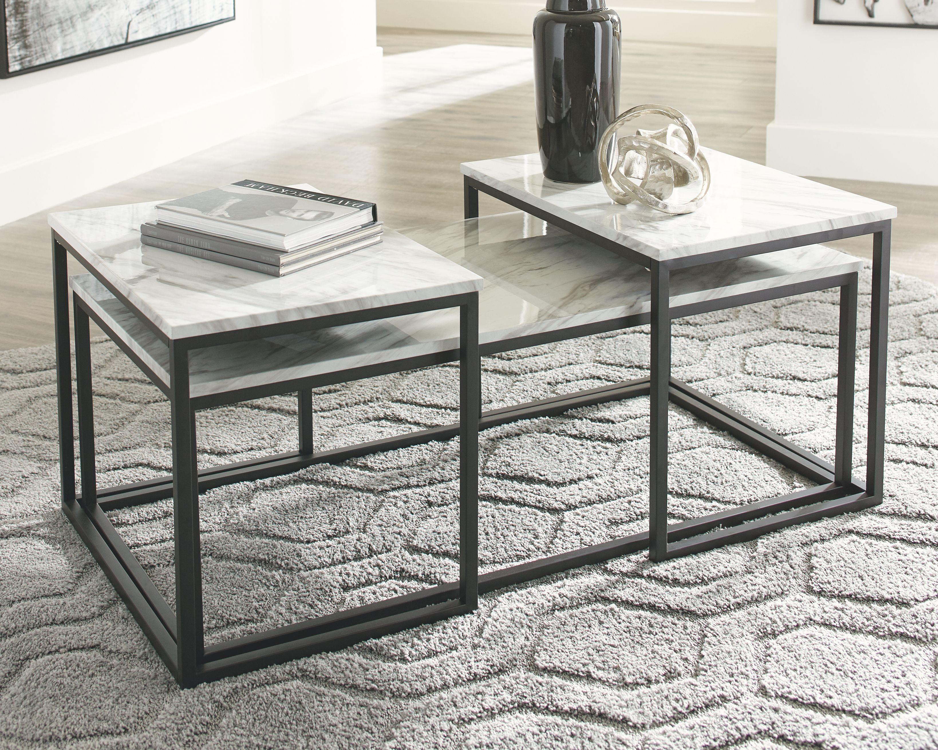 Donnesta Table Set Of 3 Ashley Furniture Homestore Coffee Table 3 Piece Coffee Table Set Occasional Table [ 2621 x 3277 Pixel ]