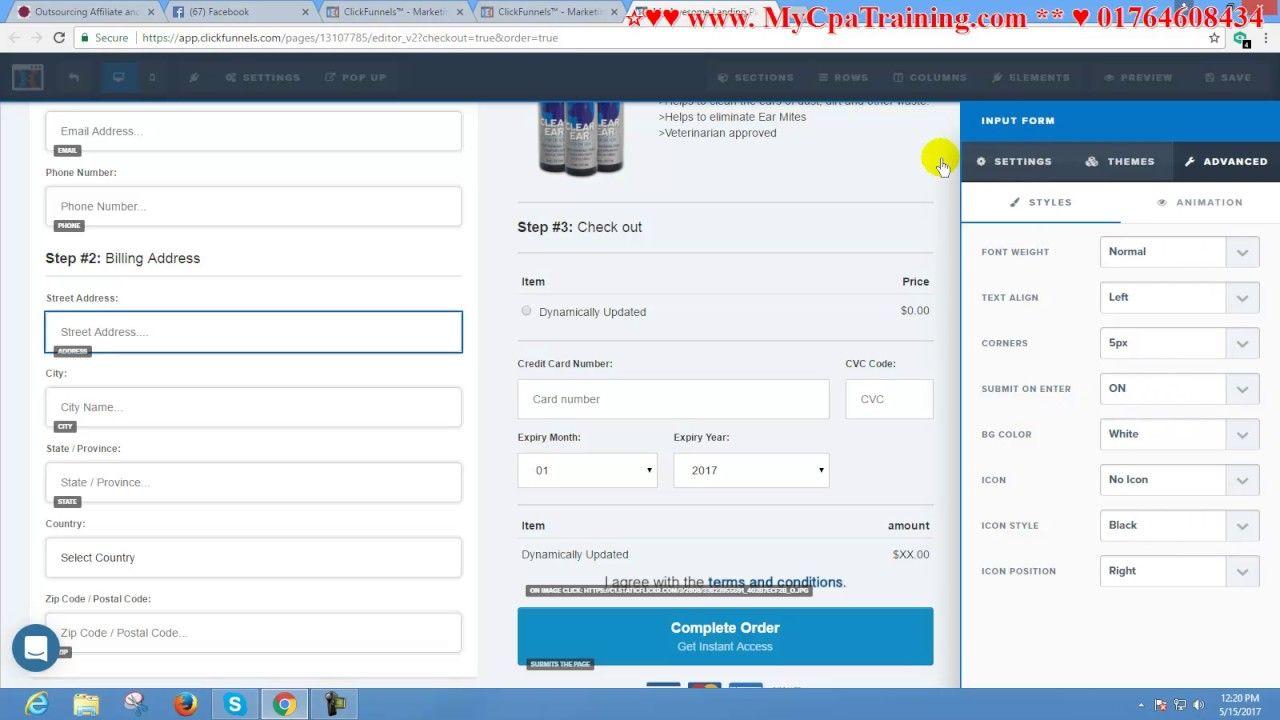 Clickfunnels Order Form  Skype  Vaishipon  MycpatrainingCom
