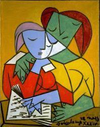 University of Michigan Museum of Art: Two Girls Reading (Deux Enfants Lisant); Pablo Picasso