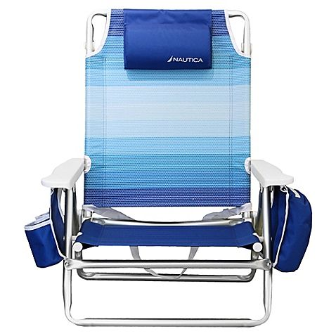 Nautica 5 Position Beach Chair Bed Bath Beyond 48 99 Beach Chair Umbrella Folding Beach Chair Beach Chairs