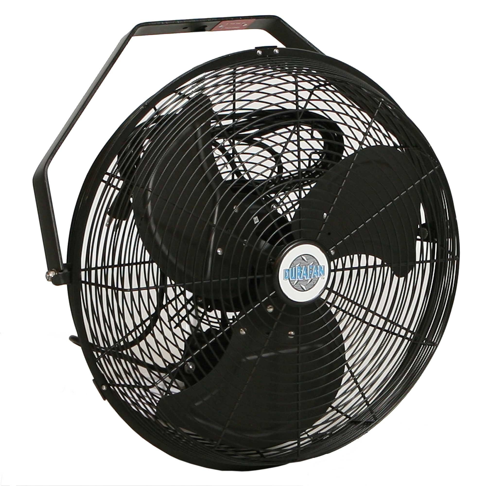 Durafan Indoor Outdoor Wall Mount Fan 14 Non Oscillating Black Wall Mounted Fan Outdoor Fans Patio Outdoor Wall Fan