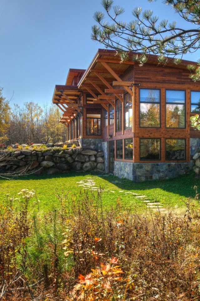 Modern Adirondack Saranac Lake Ny Phinney Design Group Architecture Interior Design Green Building C Modern Lake House Modern Adirondack Lake House