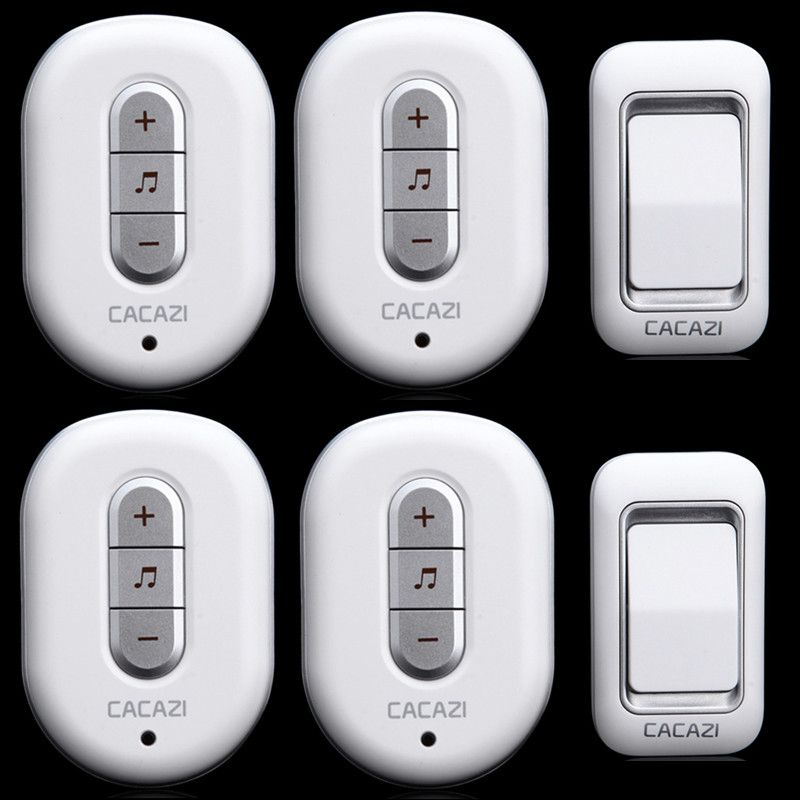 Cheap doorbell alarm Buy Quality door stops for sale directly from China door detector Suppliers 2 receivers 6 files volume 48 pcs ringtones remote ...  sc 1 st  Pinterest & AC110-220V 2 transmitters+4 receivers 6 files volume 48 pcs ...