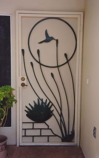 Decorative Security Screen Doors : Decorative security screen doors ensures a snug fit and