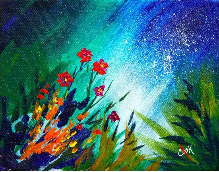 Spring Rain and Flowers a YouTube acrylic painting ...