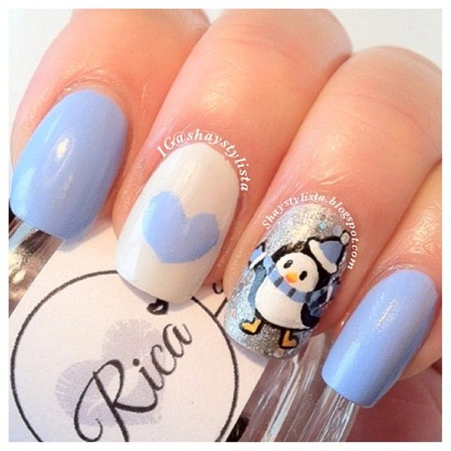 Penguin Nail Art Designs: Penguin By Shaystylista #nail #nails #nailart