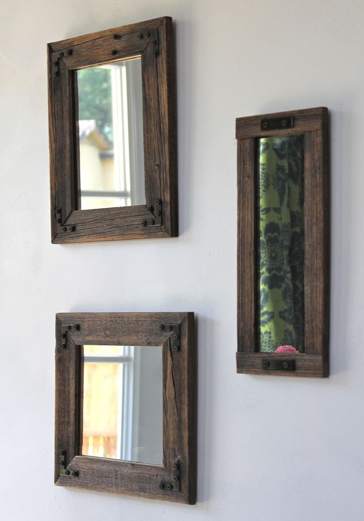 Mirror Collage Handcrafted With Reclaimed Wood | Marcos de fotos ...