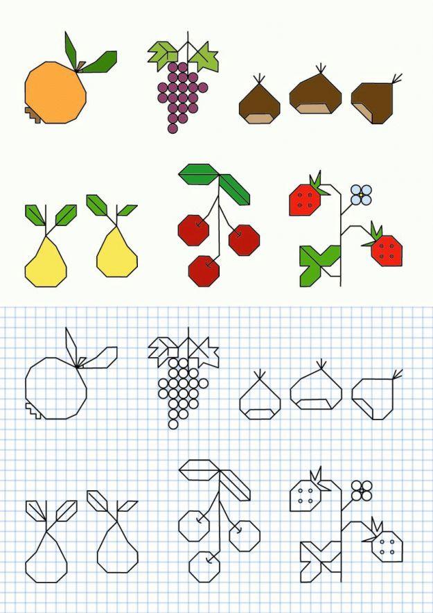 Cornicette per bambini a quadretti da colorare e stampare