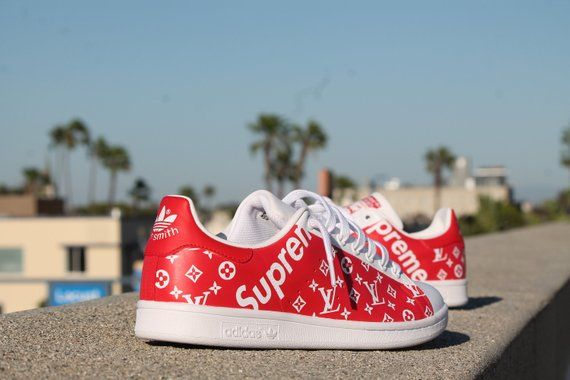 4bfe4476656fb Custom Adidas Stan Smith - Supreme x LV