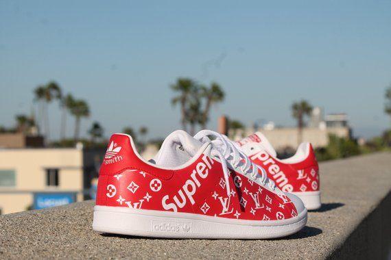 1139f02998f Custom Adidas Stan Smith - Supreme x LV Latest Shoe Trends