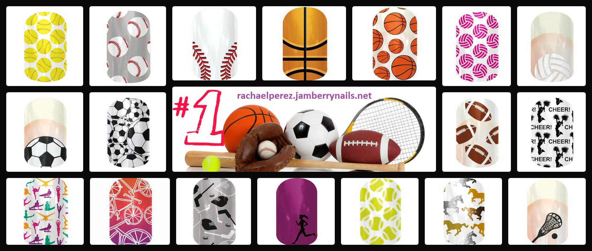 Sports Jamberry Nails. Buy 3 sheets get one FREE!!! rachaelperez.jamberrynails.net