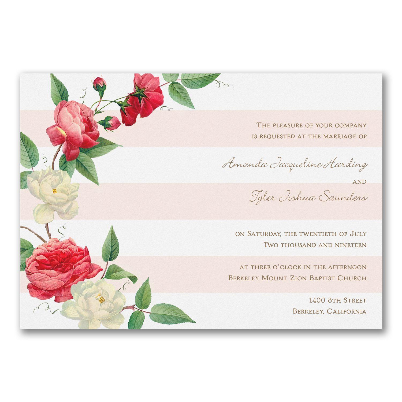 Garden stripe wedding invitations with roses http garden stripe wedding invitations with roses httppartyblockinvitations occasions sa monicamarmolfo Choice Image