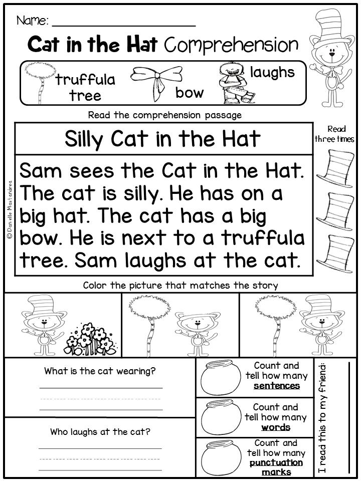 March NO PREP - Math & Literacy Printables (Kindergarten)