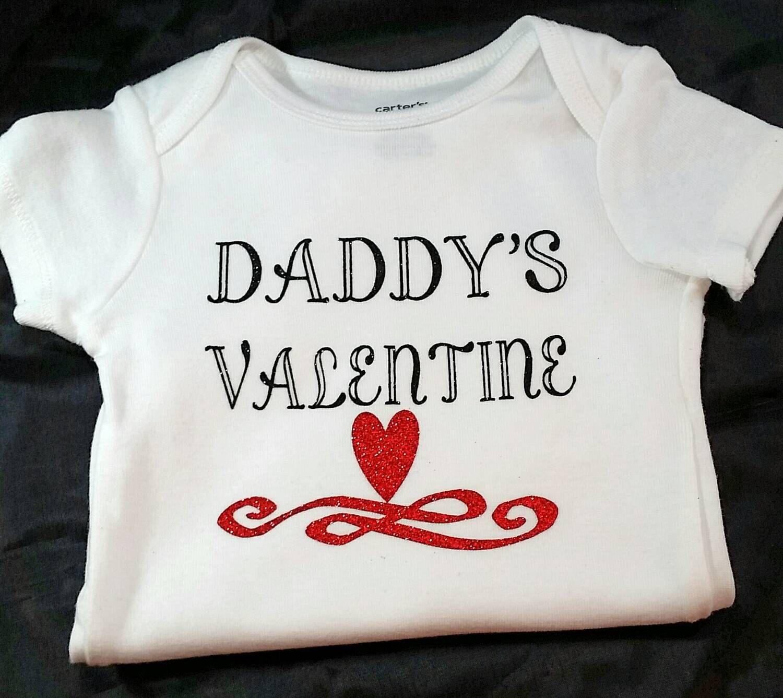 Valentines day custom onesie or t shirt daddys valentine baby valentines day custom onesie or t shirt daddys valentine baby girl baby negle Choice Image
