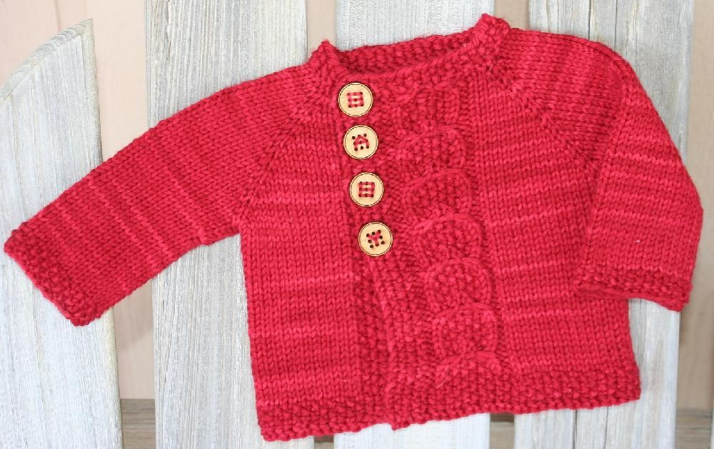 Olive You Baby - Free Baby Cardigan Knitting Pattern by Taiga ...